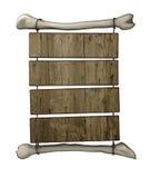 Quadro de avisos de madeira primitivo ilustração stock