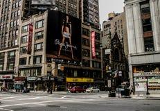 Quadro de avisos de Pepe Jeans, Manhattan, NYC fotos de stock