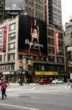 Quadro de avisos de Pepe Jeans, Manhattan, NYC foto de stock royalty free
