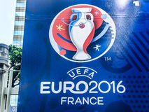 Quadro de avisos do Euro 2016 do UEFA França Imagens de Stock