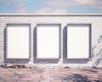 Quadro de avisos do modelo na parede 3d Foto de Stock Royalty Free