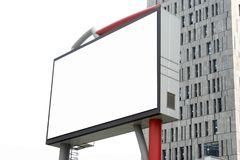Quadro de avisos em branco no edifício Fotografia de Stock Royalty Free