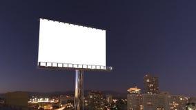 Quadro de avisos na cidade da noite Imagem de Stock