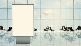 quadro de avisos na sala de estar do aeroporto Imagem de Stock Royalty Free