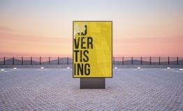 quadro de avisos vertical do cartaz da rua ilustração stock