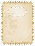 Quadro de caixa do vintage na cor marrom Imagens de Stock Royalty Free