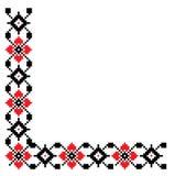Quadro de canto do bordado popular tradicional ilustração do vetor
