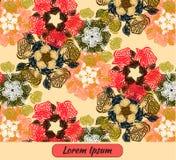 Quadro de cartão do molde da arte da flor Imagem de Stock Royalty Free