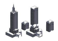Quadro de construções cinzentas ilustração stock