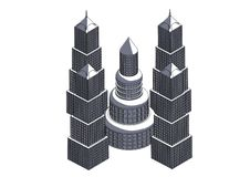 Quadro de constru??es cinzentas ilustração royalty free