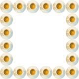 Quadro de copos do café Fotografia de Stock