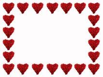 Quadro de corações vermelhos imagem de stock