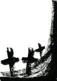 Quadro de Dia das Bruxas ilustração do vetor