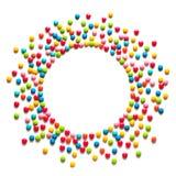 Quadro de drageias doces coloridos dos doces imagem de stock