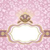 Quadro de easter do cor-de-rosa-ouro da mola Fotos de Stock