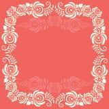 Quadro de elementos florais Quadro do vetor no gzhel Fotografia de Stock Royalty Free