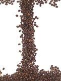 Quadro de feijões de café Fotografia de Stock Royalty Free