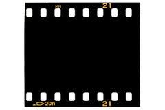 Quadro de filme, preto Fotos de Stock Royalty Free