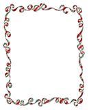 Quadro de fitas e de curvas do Natal Fotos de Stock