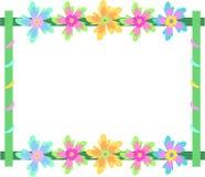 Quadro de flores de giro Foto de Stock Royalty Free