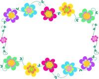 Quadro de flores espirais Foto de Stock