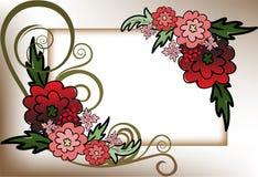 Quadro de flores vermelhas Fotografia de Stock