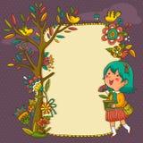 Quadro de florescência ilustração royalty free