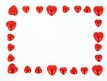 Quadro de formas do coração Imagem de Stock