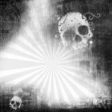 Quadro de Grunge com crânio ilustração stock