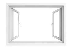 quadro de janela 3d Imagens de Stock