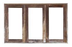 Quadro de janela de madeira velho fotos de stock