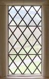 Quadro de janela de pedra velho Imagens de Stock