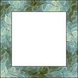 Quadro de janela do vidro colorido do vetor para a fotografia Imagem de Stock