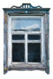 Quadro de janela velho fotografia de stock