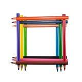 Quadro de lápis coloridos Imagens de Stock