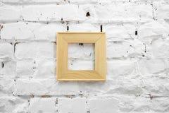 Quadro de madeira Imagens de Stock