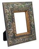 Quadro de madeira antigo da foto isolado no fundo branco Foto de Stock