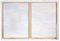 Quadro de madeira com lona branca Foto de Stock