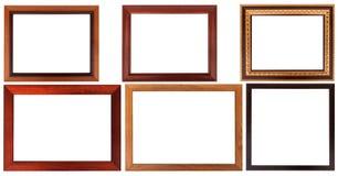 Quadro de madeira com projeto simples fotografia de stock royalty free
