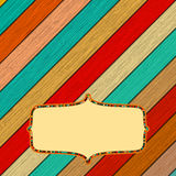 Quadro de madeira da cor retro com quadro. + EPS8 Imagem de Stock Royalty Free