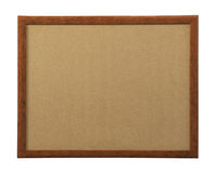 Quadro de madeira da foto no branco Imagem de Stock Royalty Free
