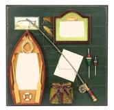 Quadro de madeira da foto para o fisher Fotos de Stock Royalty Free