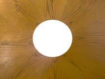 Quadro de madeira de HDR com a circular cortada Fotografia de Stock