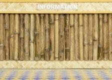 Quadro de madeira do bambu da placa Foto de Stock