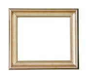 Quadro de madeira do ouro foto de stock