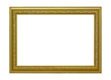 Quadro de madeira do ouro para a pintura Fotos de Stock