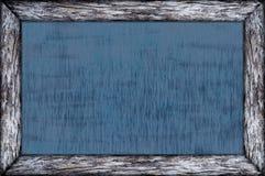 Quadro de madeira do quadro com superfície do preto Fotos de Stock Royalty Free