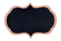 Quadro de madeira do quadro da forma com superfície do preto Fotos de Stock Royalty Free
