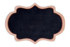 Quadro de madeira do quadro da forma com superfície do preto Imagem de Stock Royalty Free