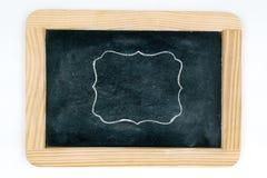 Quadro de madeira do quadro do vintage isolado no branco Fotografia de Stock